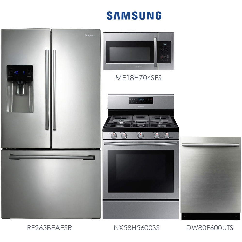 Discount Package Samsung Stainless Steel 4Piece Kitchen