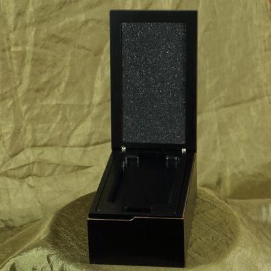 Black wood hidden hinged mobile phone package