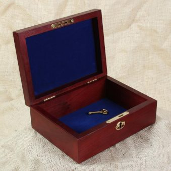 Wood box with locking mechanism