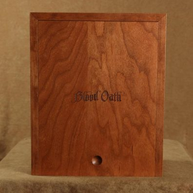 Blood Oath product package with slide lid