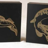 Laser Etched Walleye and Pike