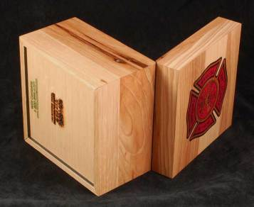 Firefighters appreciation wooden box