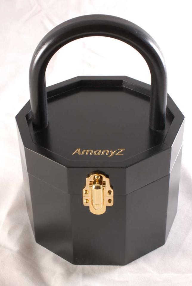 AmanyZ Black Wood Purse