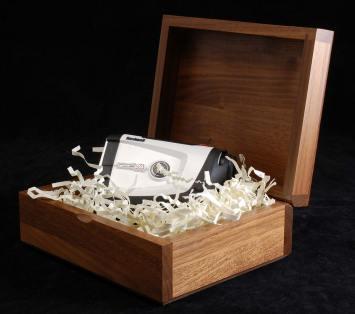 Wood Hinge Box with Product
