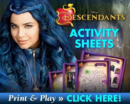 free printable disney descendants activity sheets mama cheaps