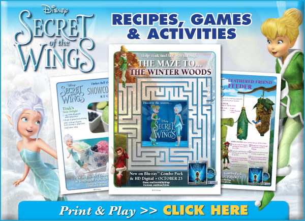 Tinker Bell and Friends Download Activities!