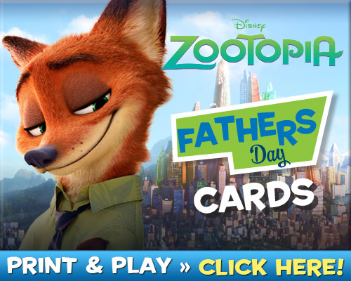 Download Zootopia Father's Day Cards