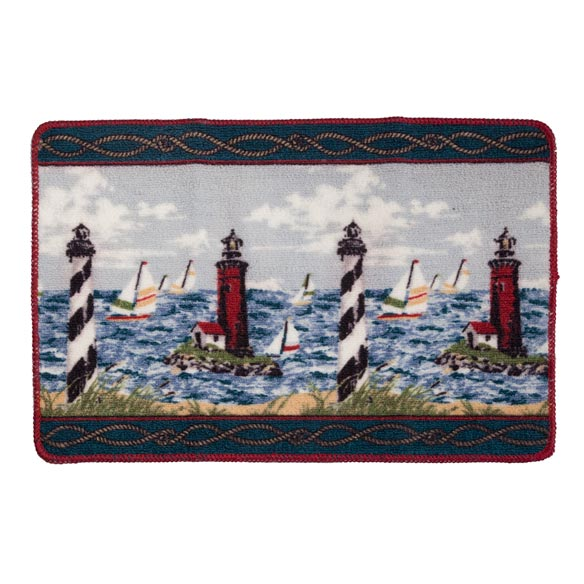 Lighthouse Bath Mat Nautical Bath Rugs Walter Drake