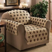 Paw Print Chair Protector - Pet Furniture Covers - Walter ...