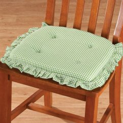 Kitchen Chair Cushions Non Slip Blue Cabinets For Sale Ruffled Gingham Pad - Non-slip Pads Walter Drake