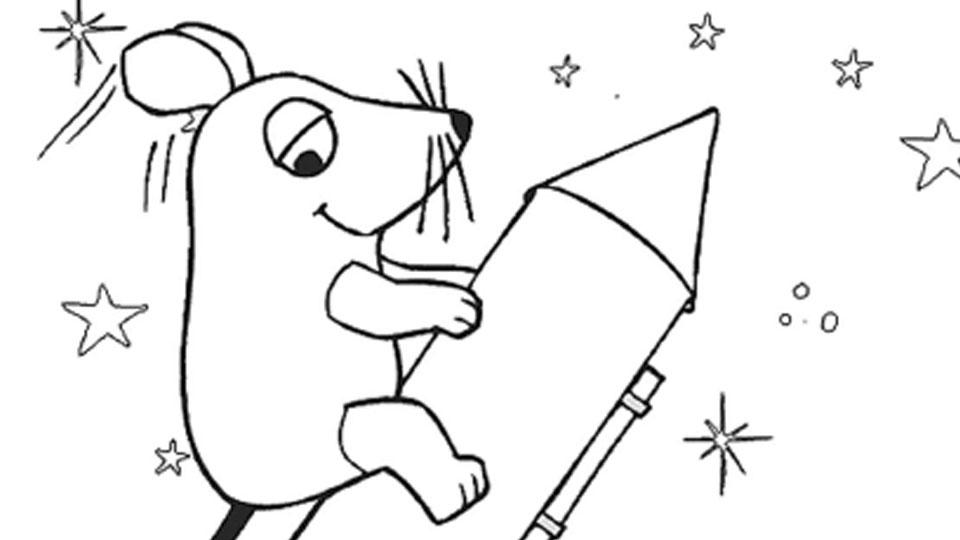 Ausmalbilder Kinder Rakete - Zeichnen und Färben