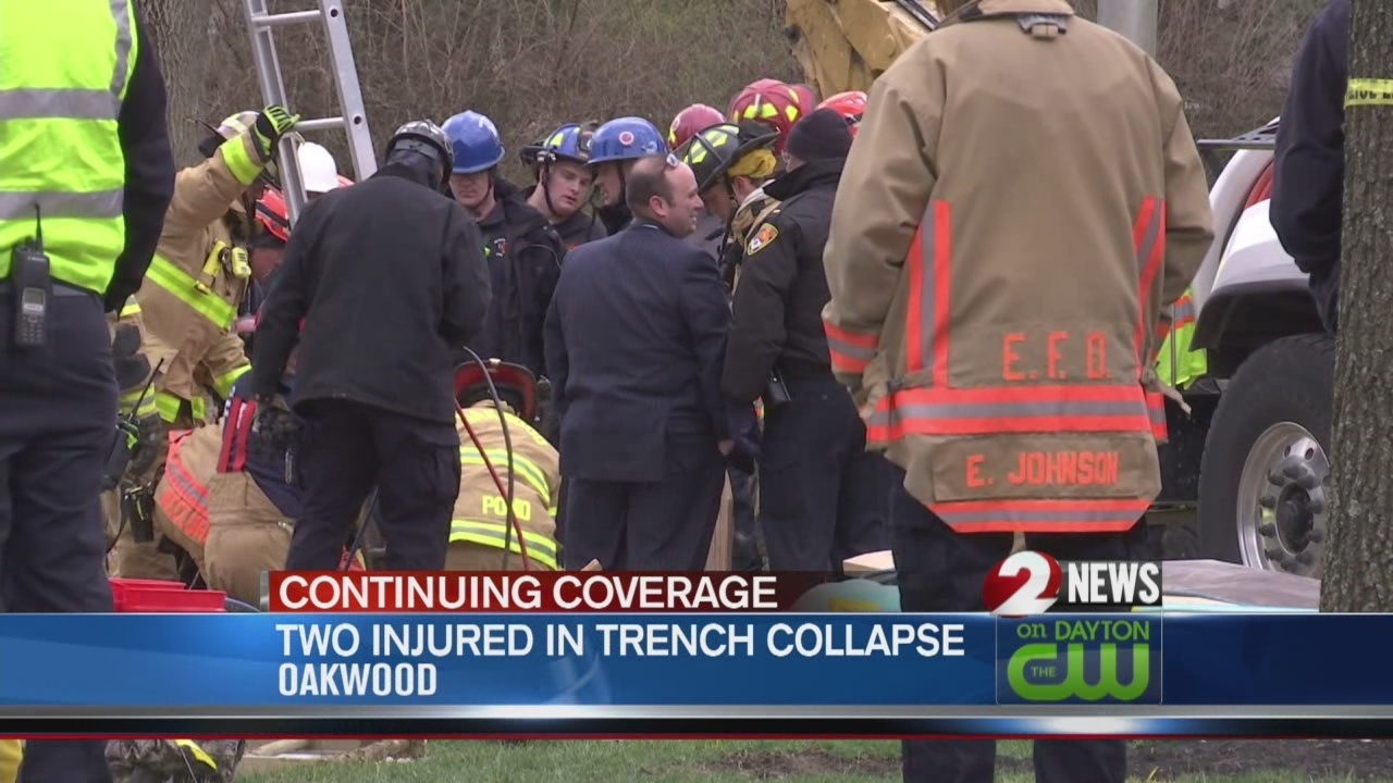 Two injured in trench collapse