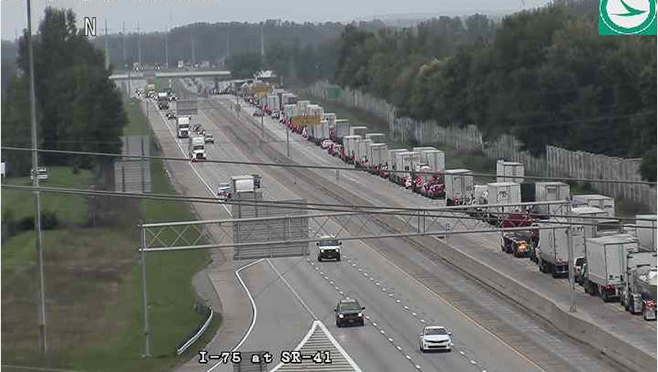 Two crashes cause traffic delays on I-75 NB near SR-41