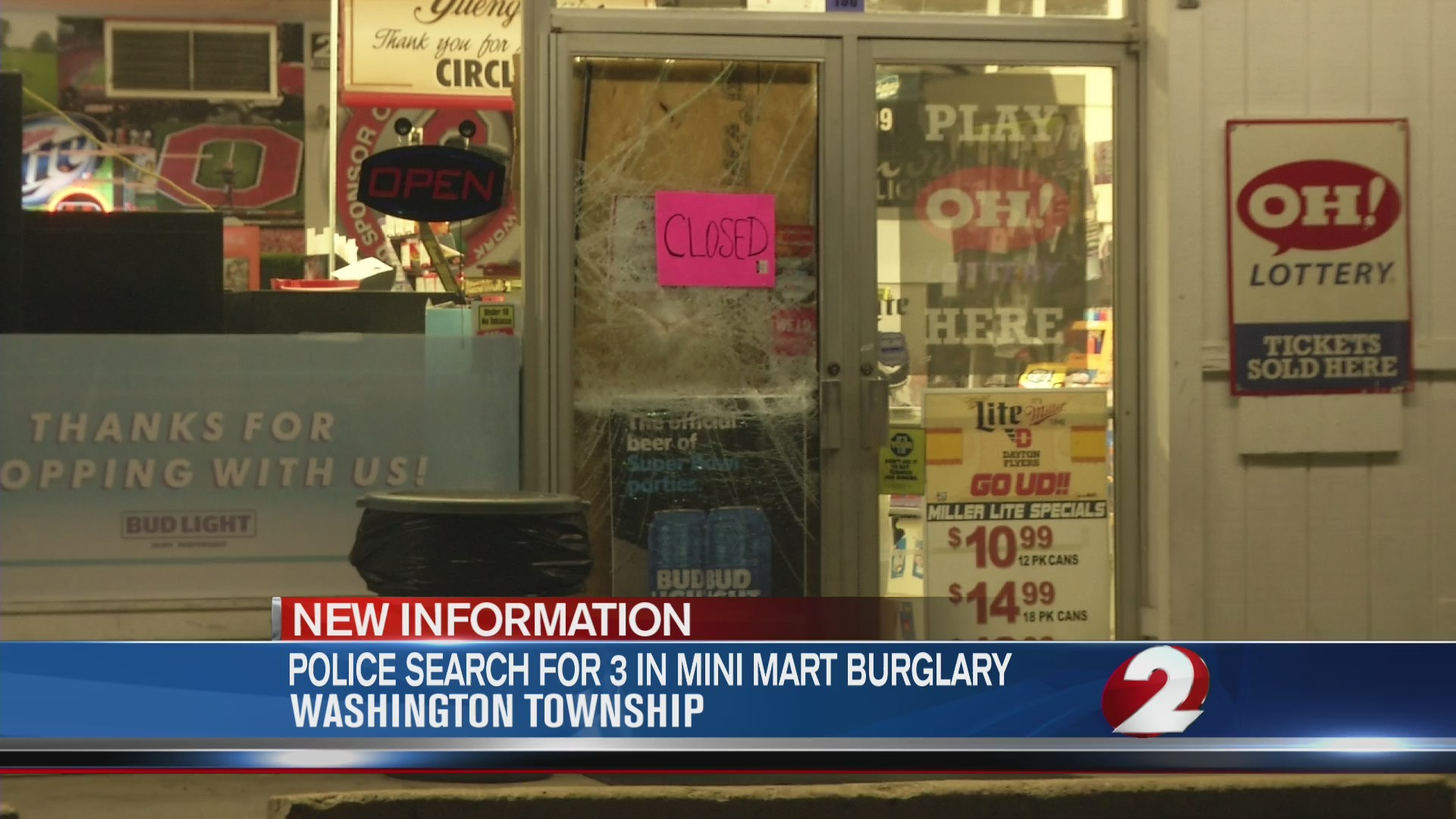 Police search for 3 in Mini Mart burglary