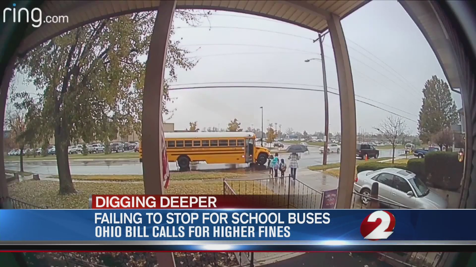 Failing to stop for school buses