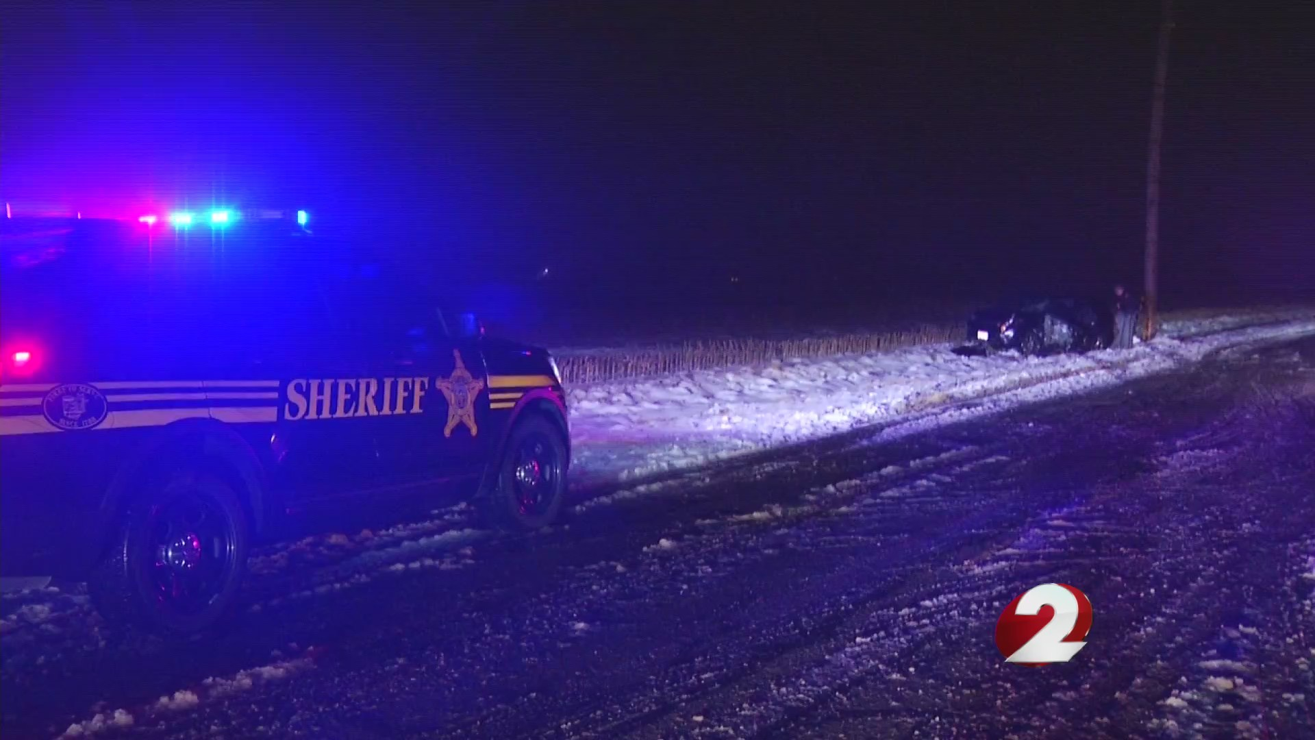 Weather blamed from slide off crash in Miami County