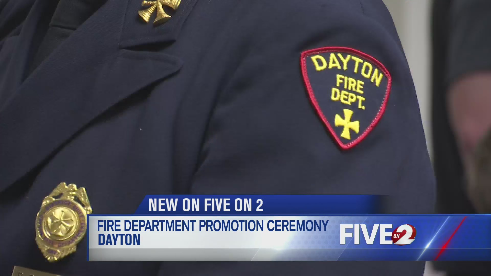 Fire department promotion ceremony
