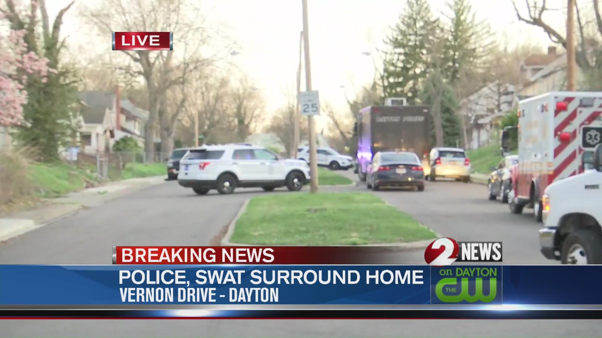 Police surround Dayton home