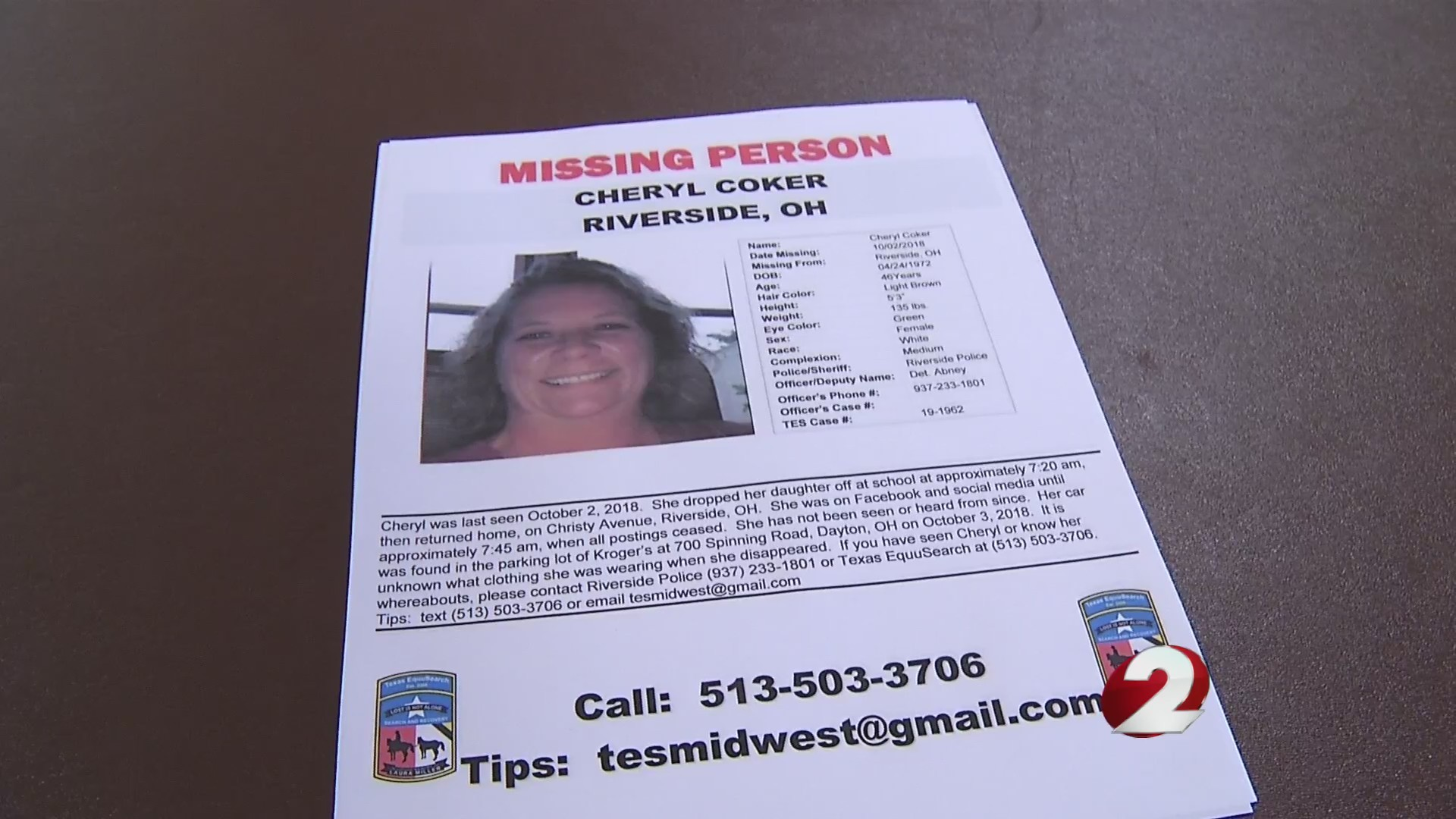 Search for Cheryl Coker scheduled Saturday