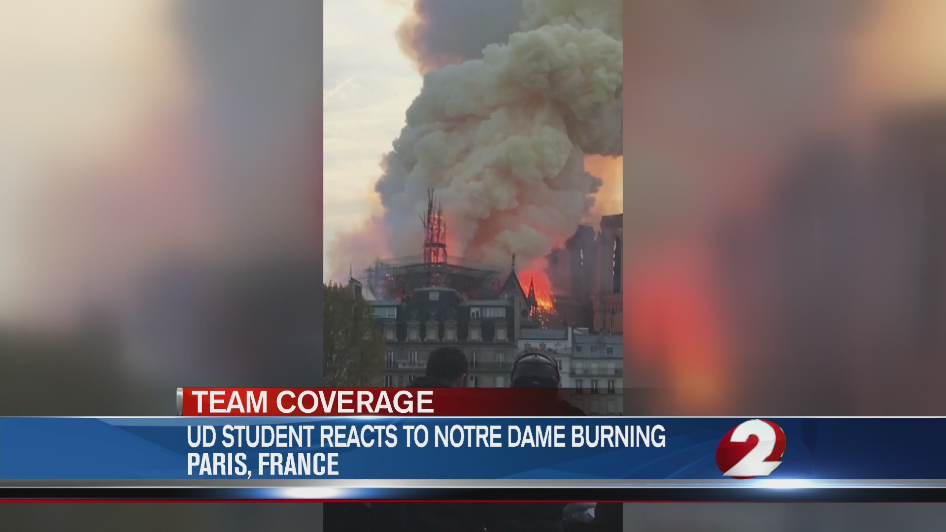 UD student reacts to Notre Dame burning
