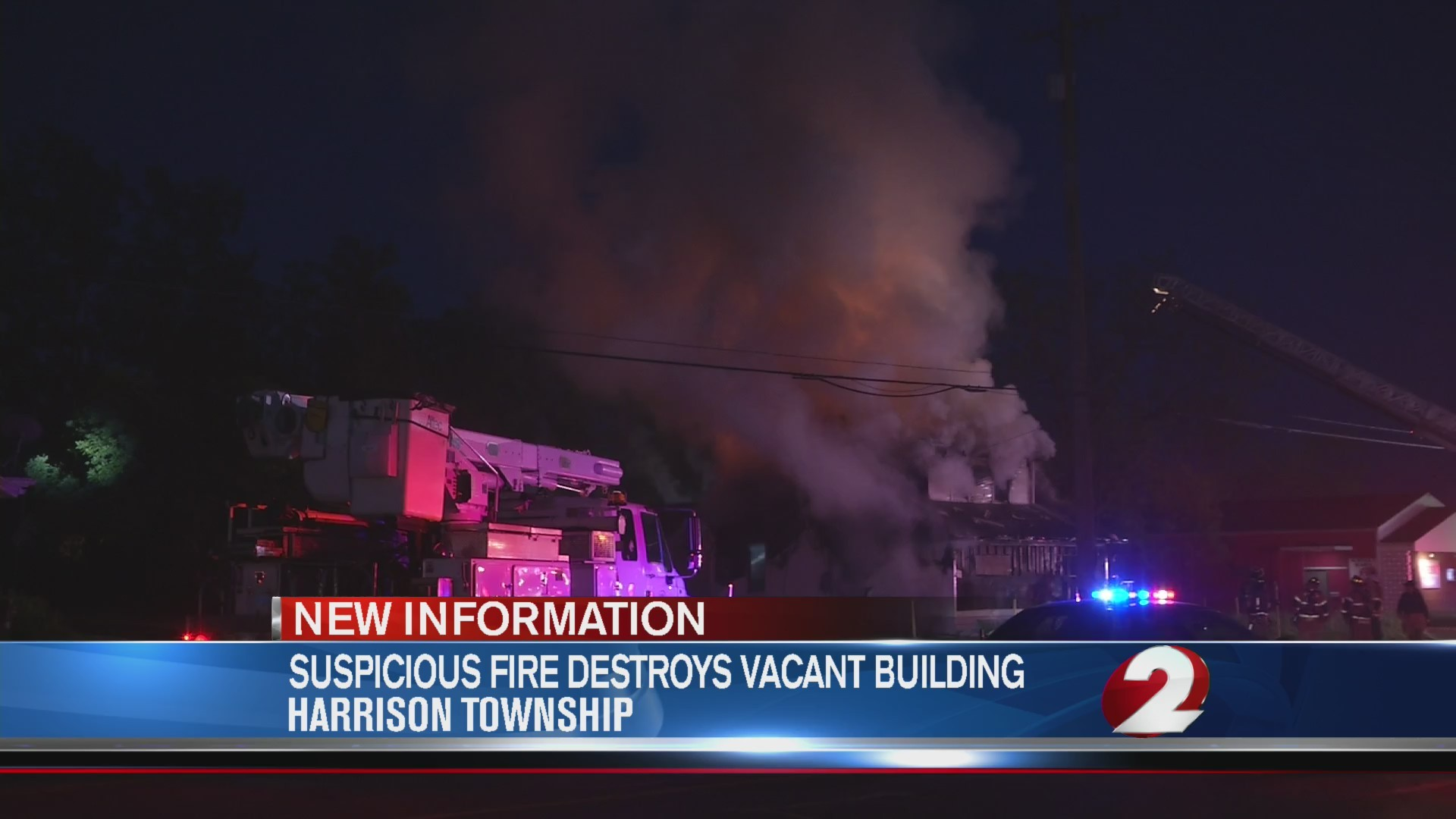 Suspicious fire destroys vacant building