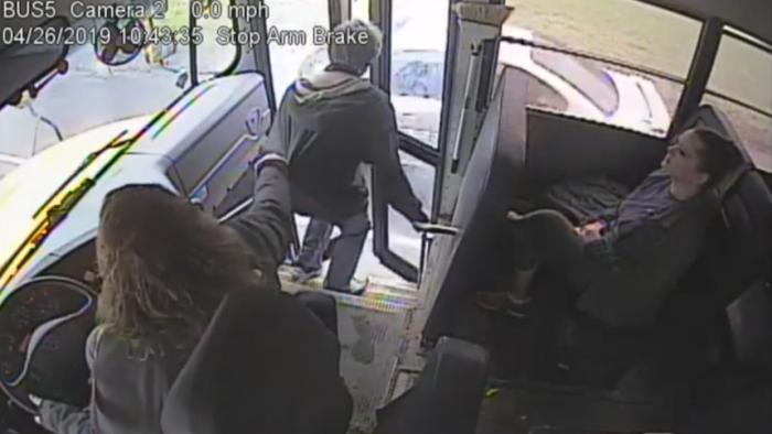WATCH: Bus Driver Saves Kid From Speeding Car