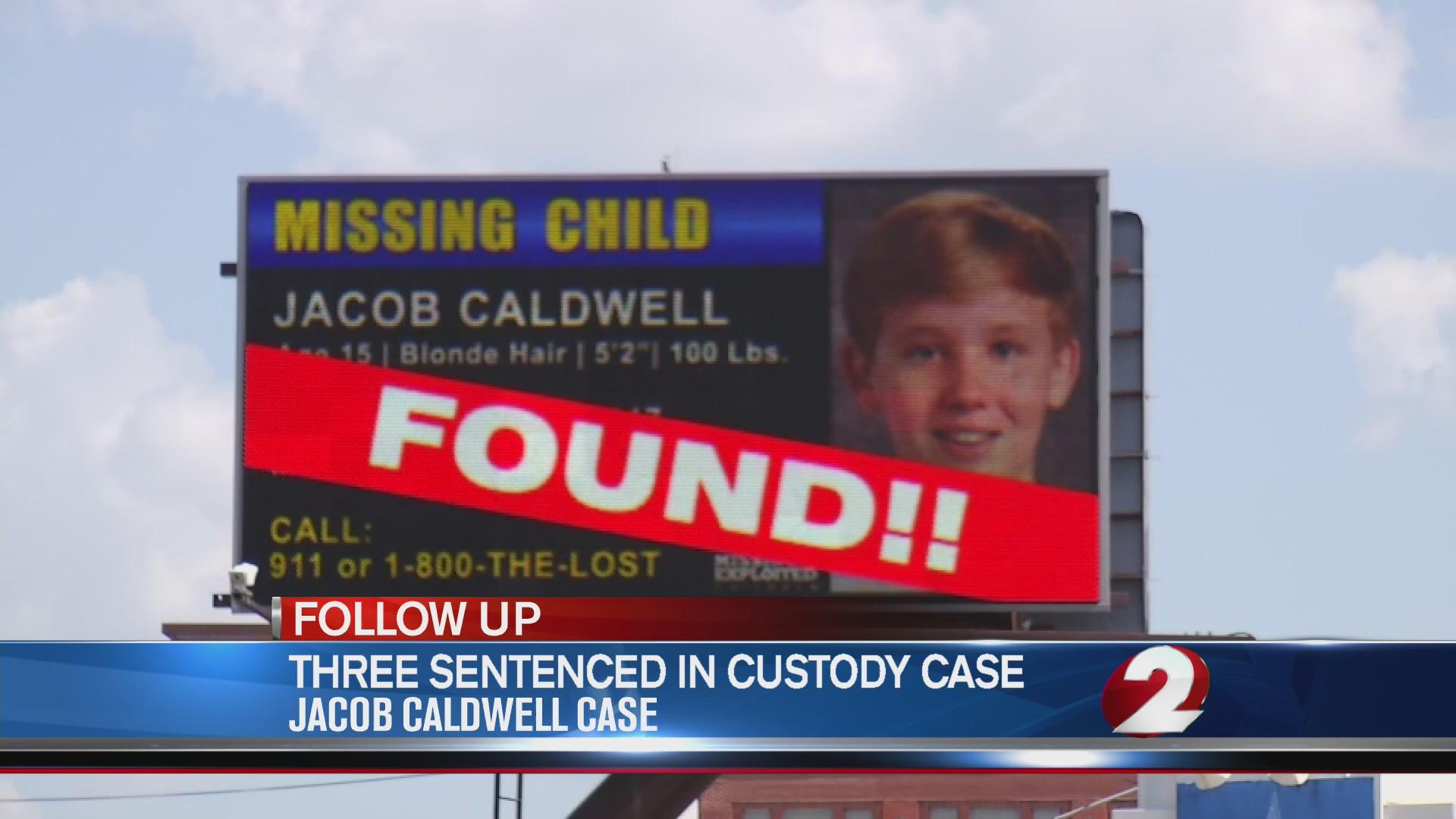 Three sentenced in Jacob Caldwell case