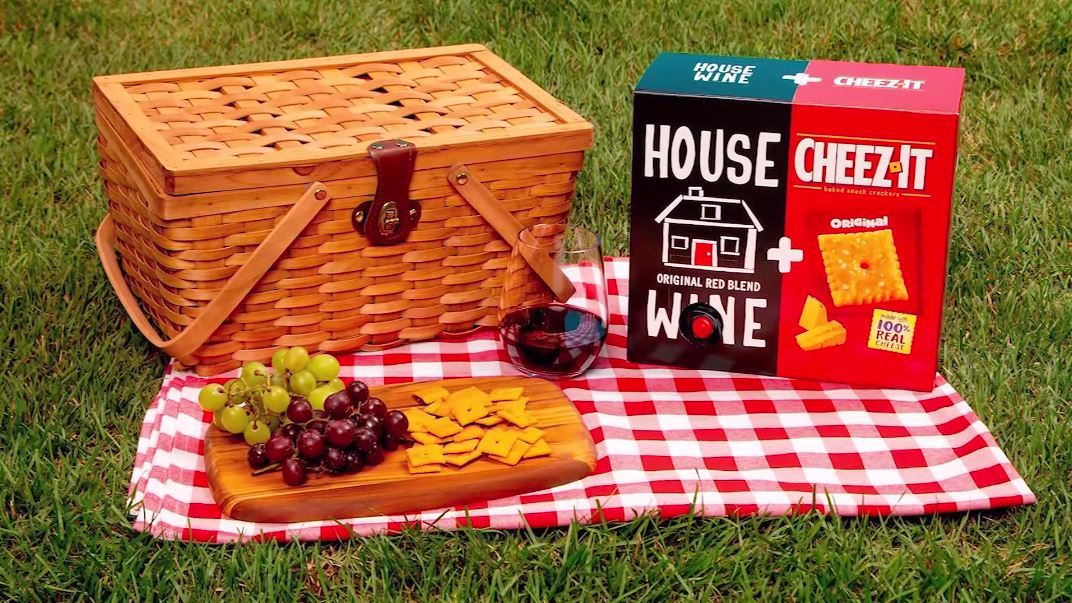Wine and Cheez-It