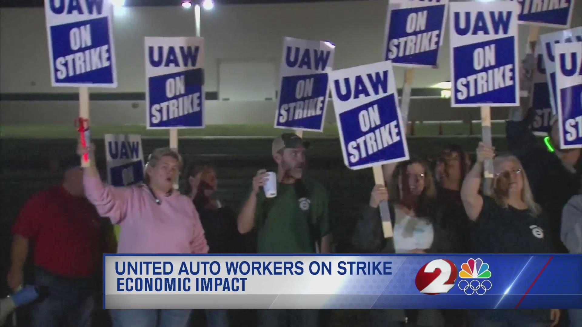 United Auto Workers on strike