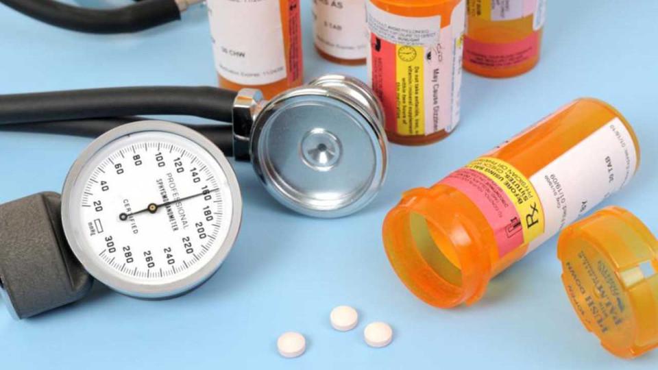 Bottles of pills, stethescope