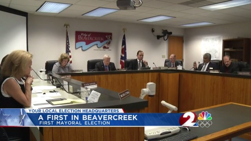 First mayoral election in Beavercreek