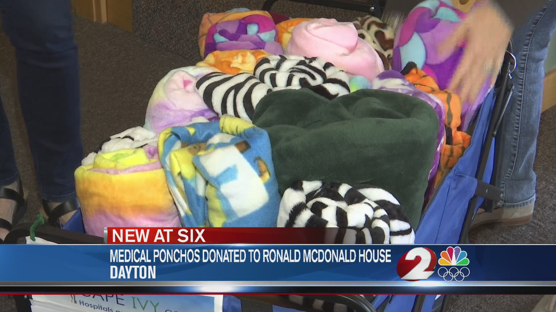 Medical ponchos donated to Ronald McDonald House