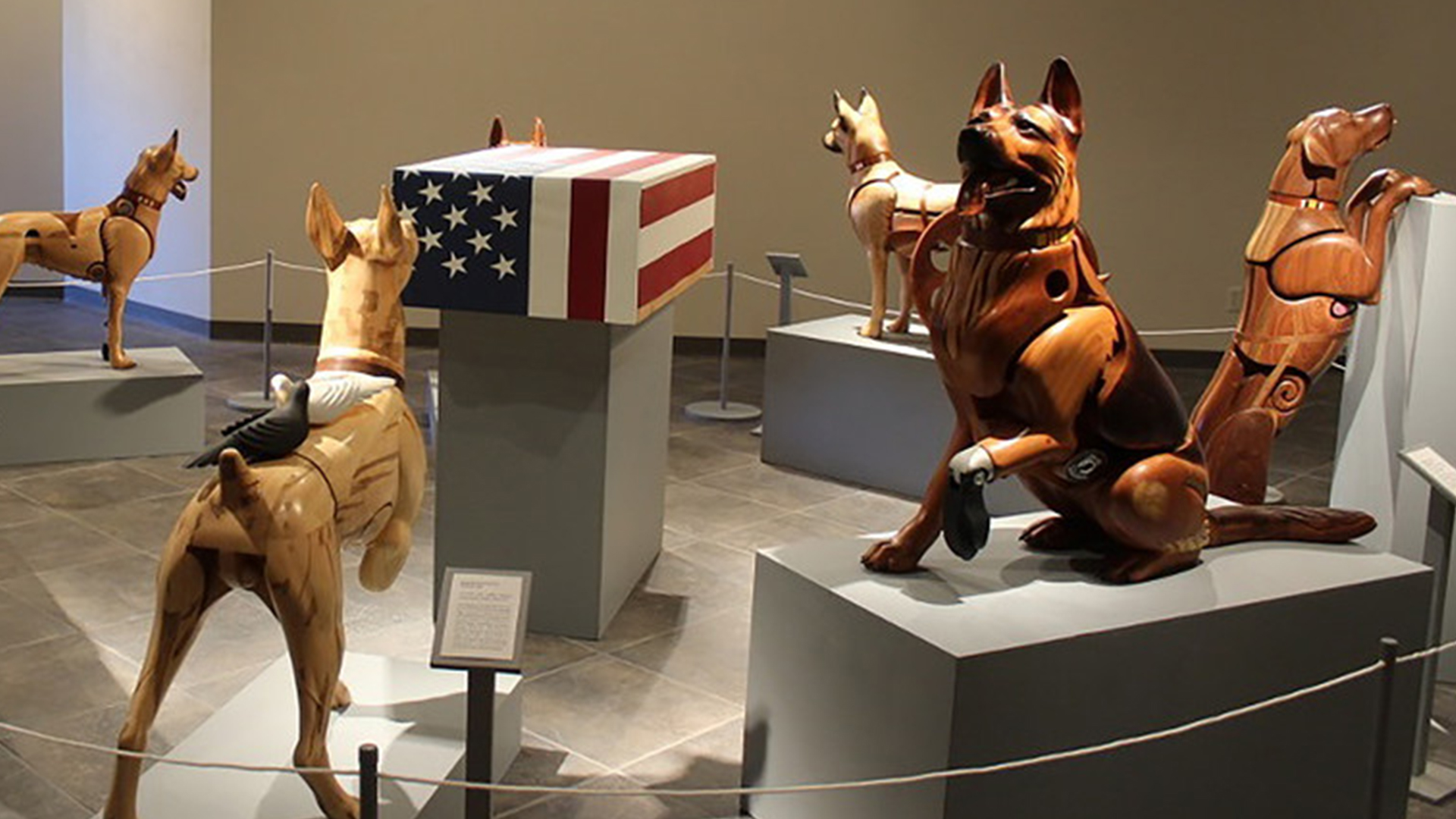 Wounded Warrior Dog exhibit