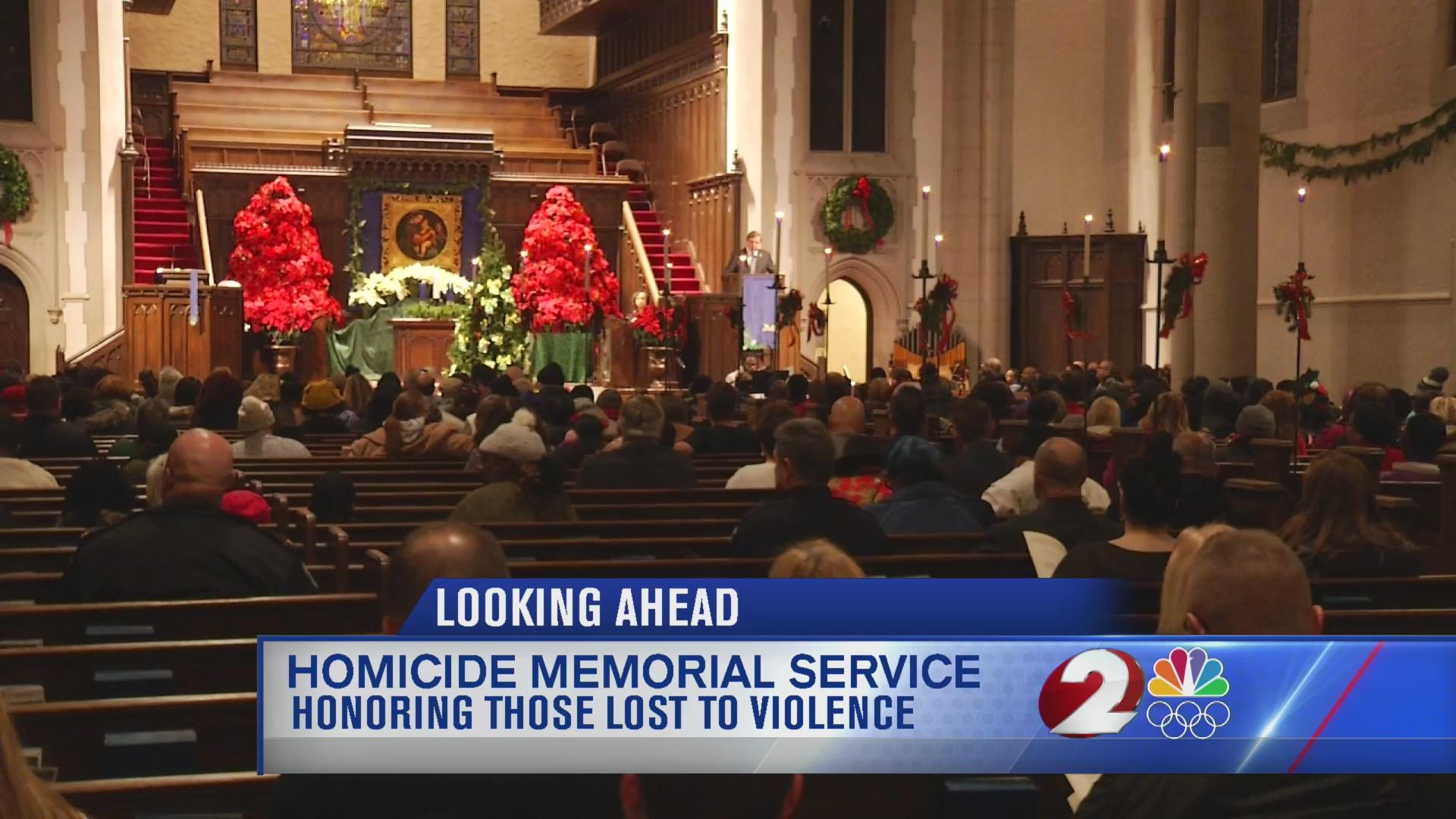 Homicide memorial service