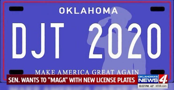 MAGA license plates