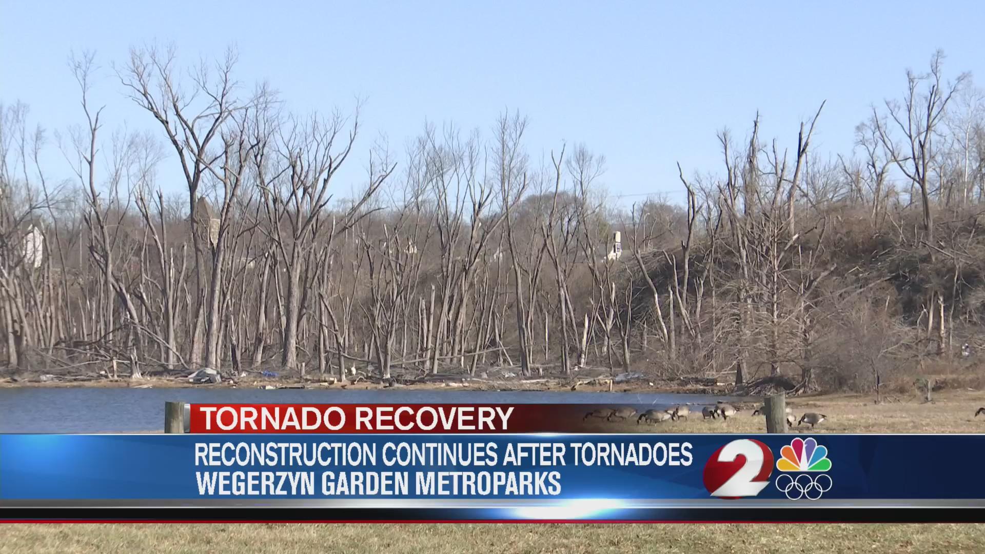Reconstruction continues at Wegerzyn Gardens after tornadoes