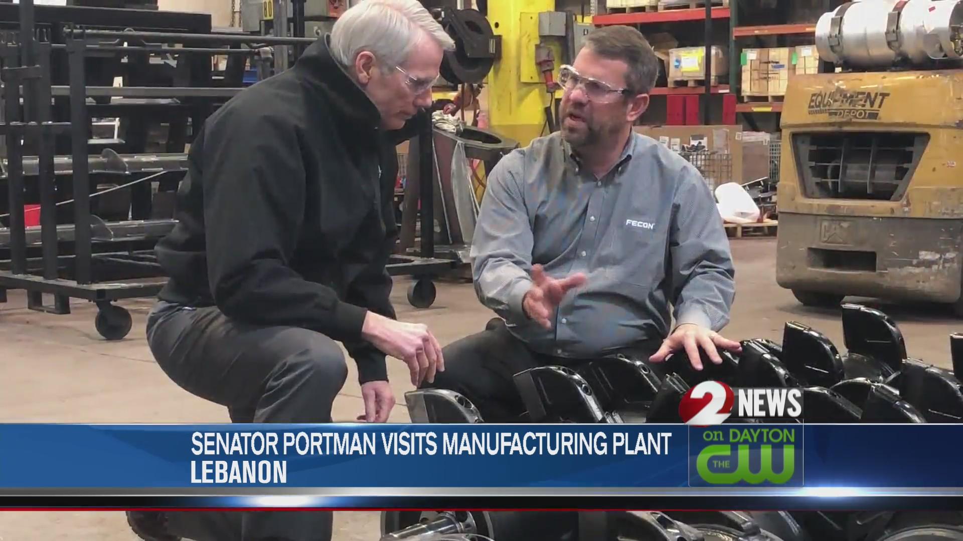 Sen. Portman visits manufacturing plant in Lebanon