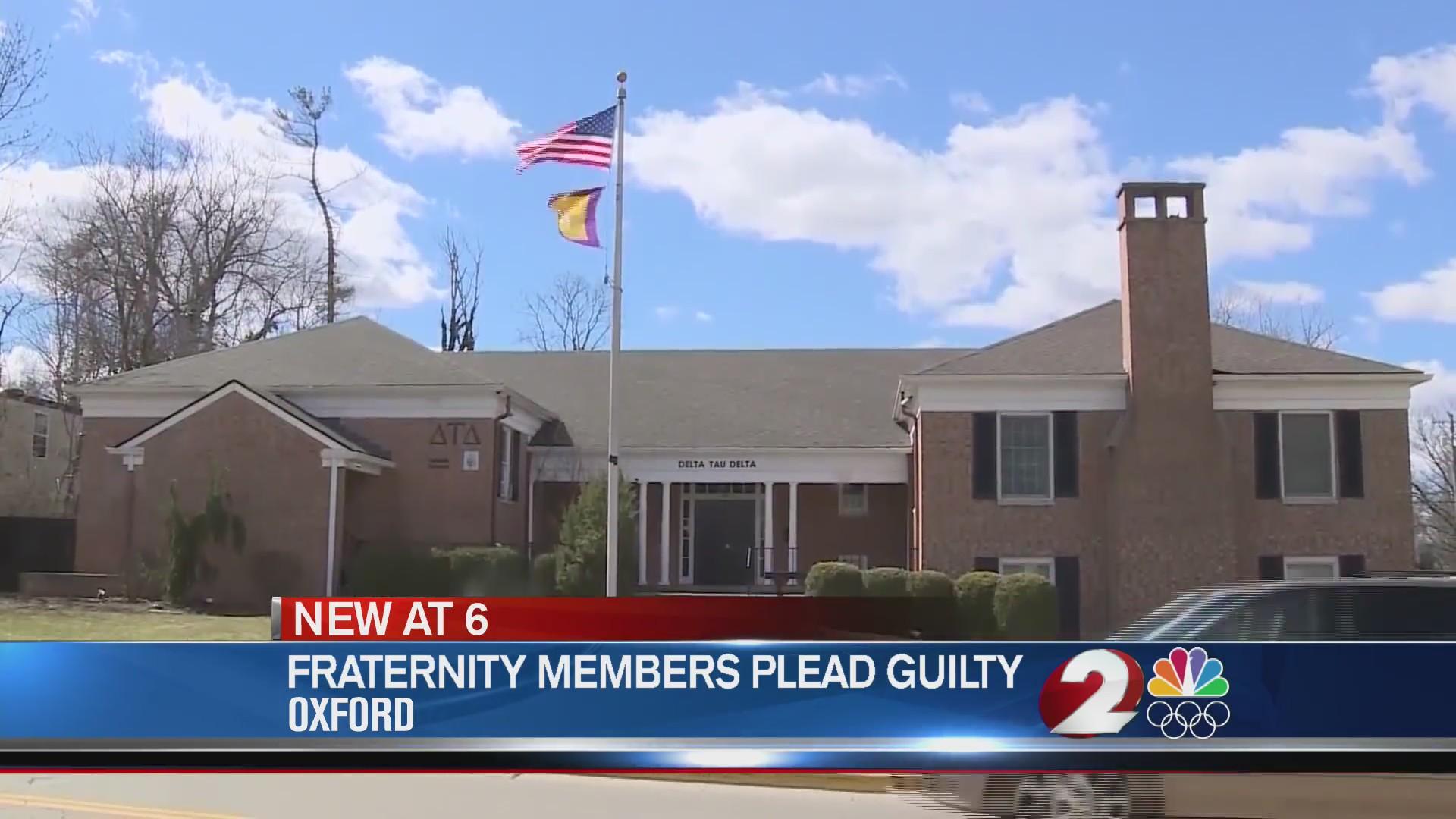 Frat members plead guilty