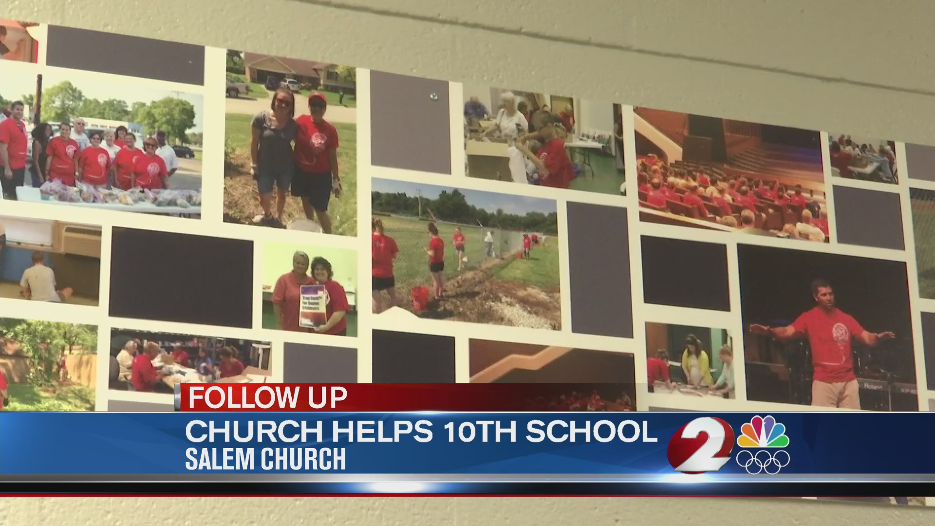 Salem Church helps tenth school