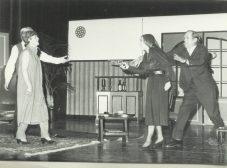 Bep Klomp-Jansen, daar achter Jos Boeren, Hetty v.d. Klift en Peter Schönfeld