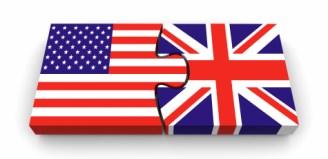 UK vs USA Flags