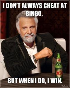 Businessman Cheats at Bingo