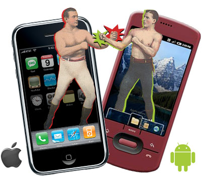 iPhone vs Android fight