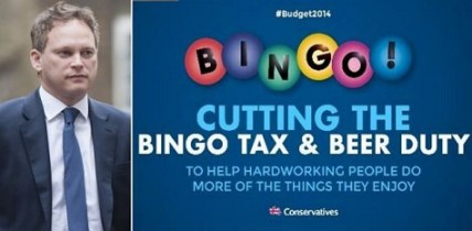 Bingo Tax & Beer Duty Campaign Poster