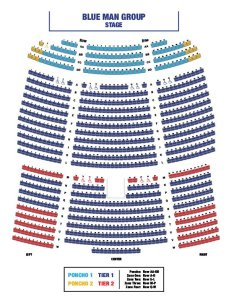 Blue man group seating chart also orlando tickets at universal rh dreamsunlimitedtravel
