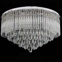 65/80 CM Modern Round K9 Crystal LED Flush Ceiling Light