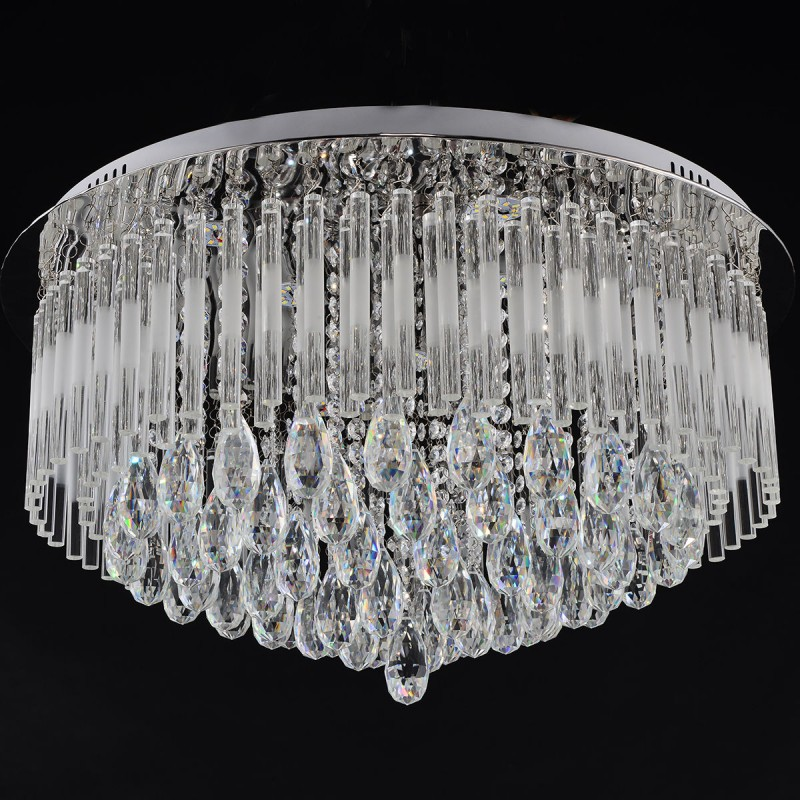 a48d5c8d09 7 Lights Modern Led K9 Crystal Ceiling Pendant Light - Inspirational ...