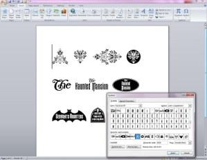 8 D FC WDW Radio Disney Themed Fonts Inserting Symbols