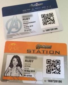 Avengers Station Cards