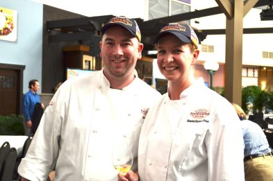 Chefs Brian and Shanna O'Hea at Epcot Food and Wine festival